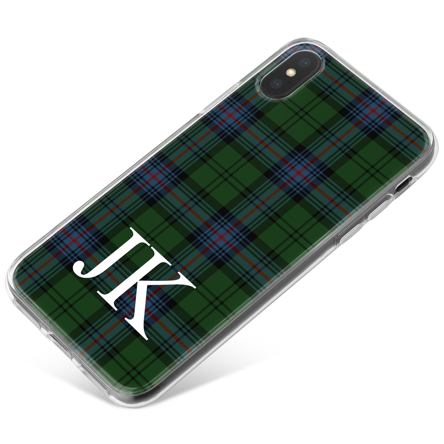 Green and Blue Tartan Pattern phone case available for all major manufacturers including Apple, Samsung & Sony