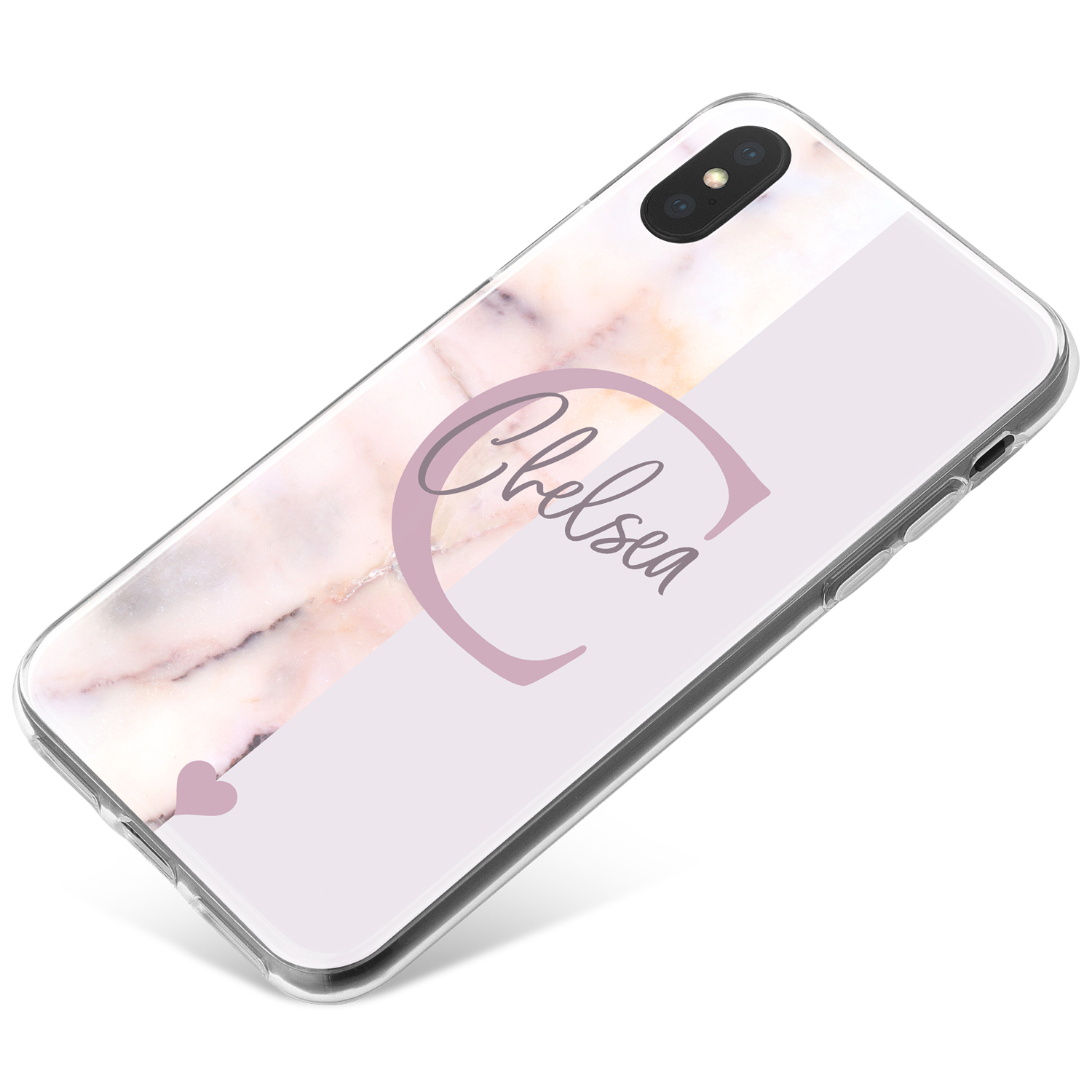 Half Marble, Half Grey phone case available for all major manufacturers including Apple, Samsung & Sony