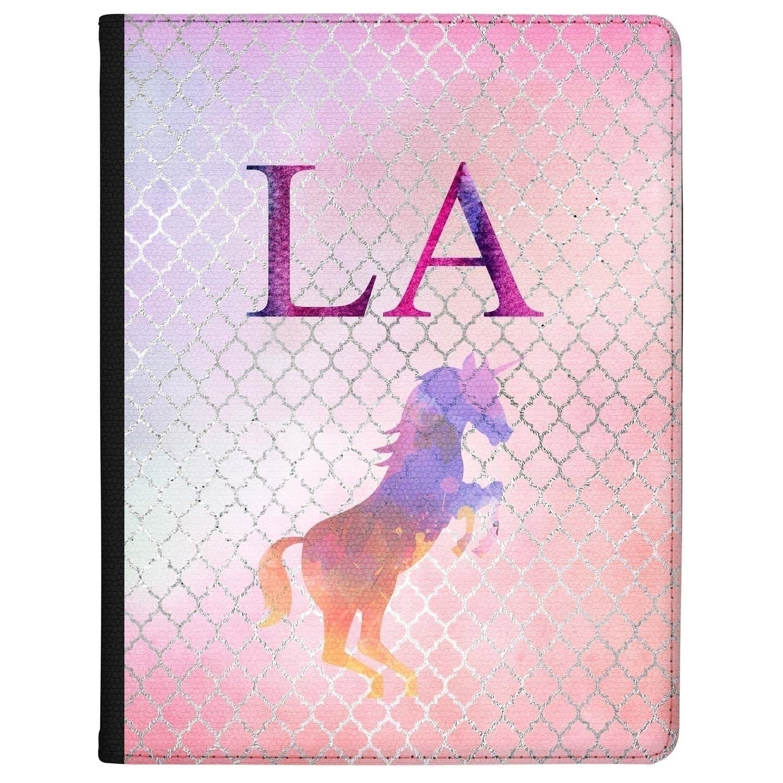 Personalised Unicorn Initial Macbook Case