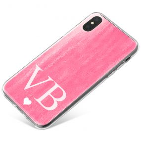 Pink Watercolour effect phone case available for all major manufacturers including Apple, Samsung & Sony