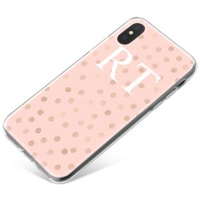 Gold Dots pattern on pink Marble phone case available for all major manufacturers including Apple, Samsung & Sony