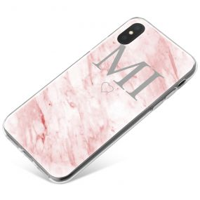 White & Pink marble phone case available for all major manufacturers including Apple, Samsung & Sony