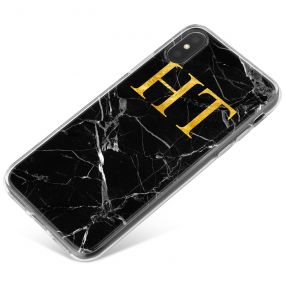 Cracked Black Marble phone case available for all major manufacturers including Apple, Samsung & Sony
