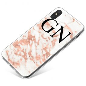 White & Pink Streaks Marble phone case available for all major manufacturers including Apple, Samsung & Sony