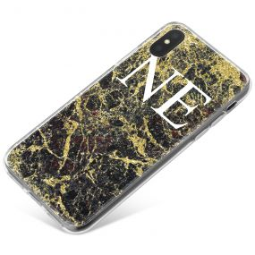 Black Marble covered in gold phone case available for all major manufacturers including Apple, Samsung & Sony