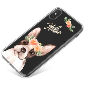 French Bulldog with Flowers phone case available for all major manufacturers including Apple, Samsung & Sony