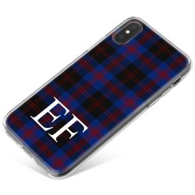 Blue, Black and Red Tartan Pattern phone case available for all major manufacturers including Apple, Samsung & Sony