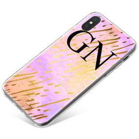 Pink Sky with Gold Streaks phone case available for all major manufacturers including Apple, Samsung & Sony