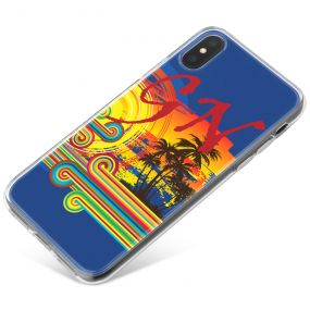 Palm Trees in the Evening phone case available for all major manufacturers including Apple, Samsung & Sony