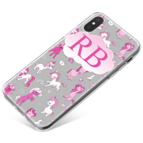 Cartoon Unicorns phone case available for all major manufacturers including Apple, Samsung & Sony