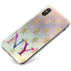 Golden Fading Unicorns  phone case available for all major manufacturers including Apple, Samsung & Sony