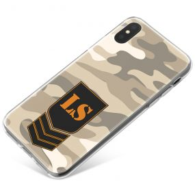 Light Grey Desert Camo phone case available for all major manufacturers including Apple, Samsung & Sony