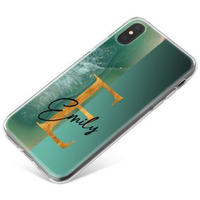 Half Jade Agate, Half Green phone case available for all major manufacturers including Apple, Samsung & Sony