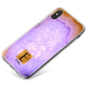 Purple Gold Geode phone case available for all major manufacturers including Apple, Samsung & Sony