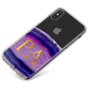 Purple And Pink Agate phone case available for all major manufacturers including Apple, Samsung & Sony