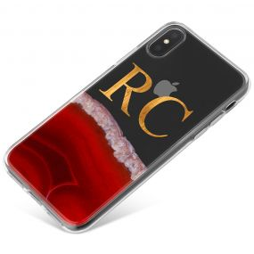 Transparent With Deep Red Agate phone case available for all major manufacturers including Apple, Samsung & Sony