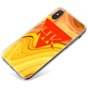 Orange And Yellow Marbled Ink phone case available for all major manufacturers including Apple, Samsung & Sony