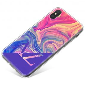 Purple Swirled Marbled Ink phone case available for all major manufacturers including Apple, Samsung & Sony