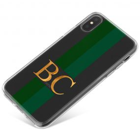 Emerald Green Racing Stripes phone case available for all major manufacturers including Apple, Samsung & Sony