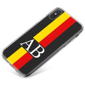 Yellow And Red Racing Stripes phone case available for all major manufacturers including Apple, Samsung & Sony