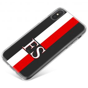 White And Red Racing Stripes phone case available for all major manufacturers including Apple, Samsung & Sony
