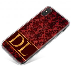 Crimson And Gold Skull Lace phone case available for all major manufacturers including Apple, Samsung & Sony