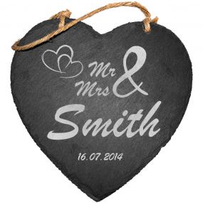 Mr & Mrs Slate Hanging Sign