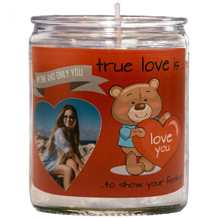 Personalised One True Love Unscented Candle