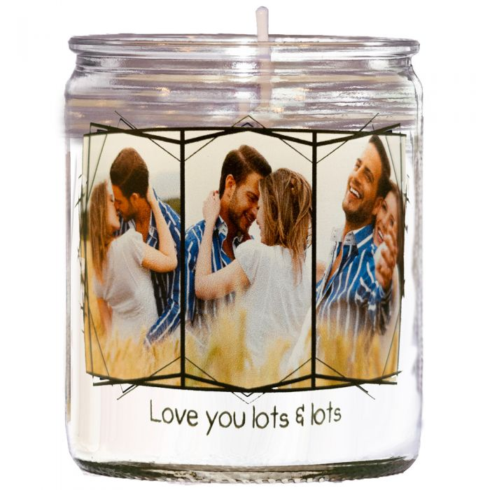 Personalised Picture Collage Unscented Candle