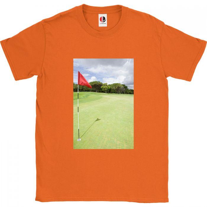 Men's Orange T-Shirt (4XLarge)