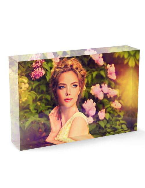 Acrylic Personalised Photo Block - 100x150mm, 20mm thick