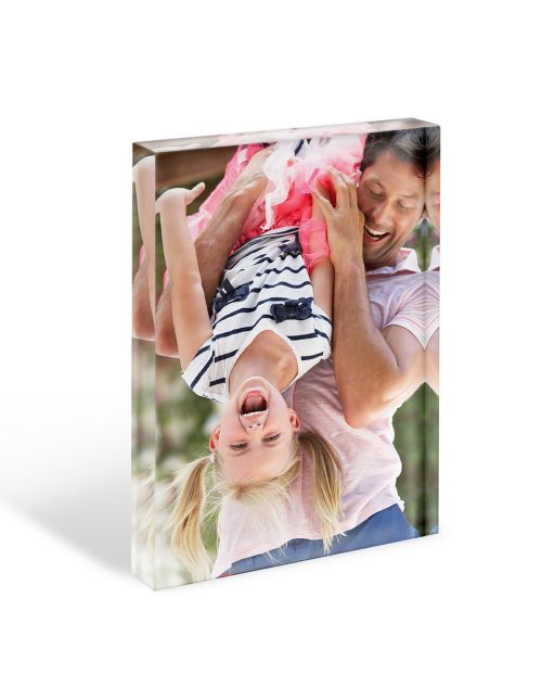 Acrylic Personalised Photo Block - 150x100mm, 20mm thick