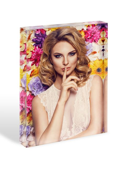 Acrylic Personalised Photo Block - 150x200mm, 20mm thick