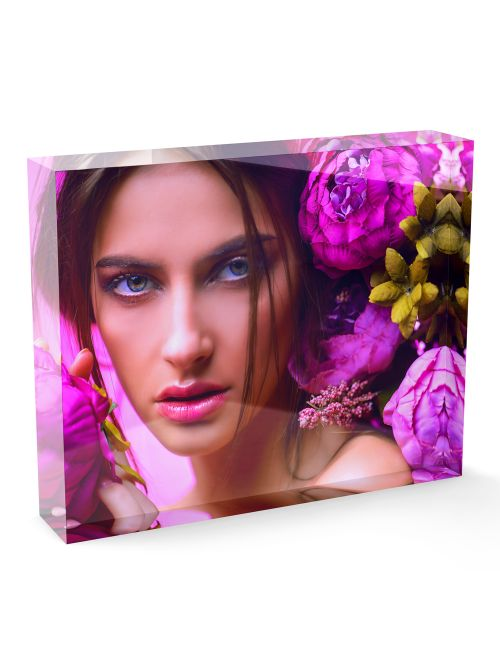 Acrylic Personalised Photo Block - 200x150mm, 20mm thick