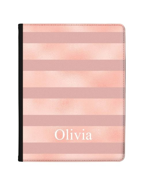 Pink Horizontal Lines on pink marble tablet case available for all major manufacturers including Apple, Samsung & Sony