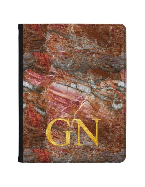 Cracked red and grey marble tablet case available for all major manufacturers including Apple, Samsung & Sony