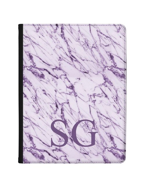 White & Purple marble tablet case available for all major manufacturers including Apple, Samsung & Sony