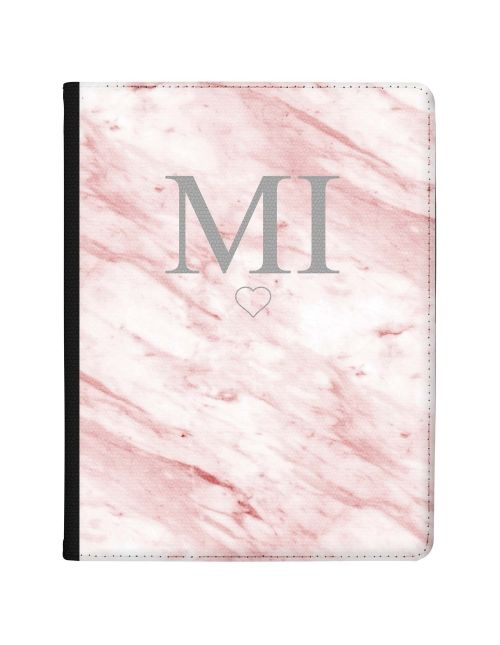 White & Pink marble tablet case available for all major manufacturers including Apple, Samsung & Sony