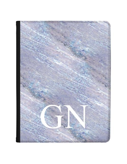 Grey & Ice Blue Marble tablet case available for all major manufacturers including Apple, Samsung & Sony