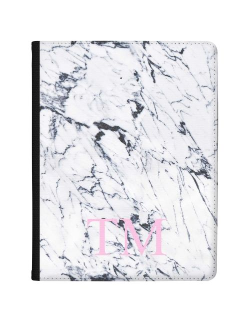 White & Dark Grey Marble tablet case available for all major manufacturers including Apple, Samsung & Sony