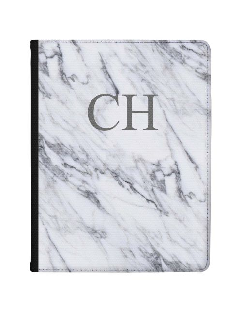 White & Grey Marble tablet case available for all major manufacturers including Apple, Samsung & Sony