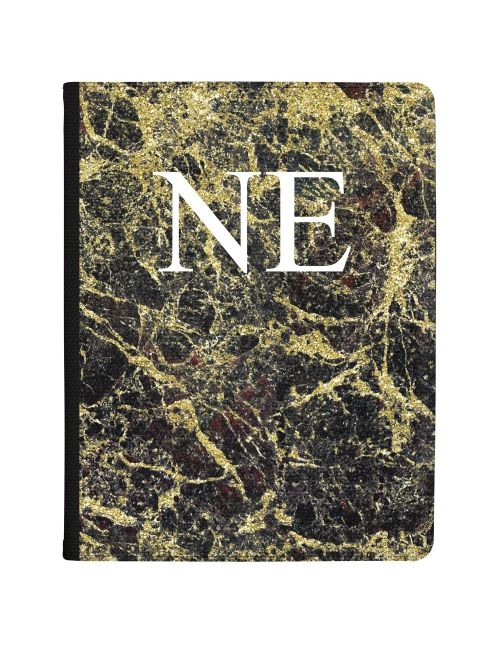 Black Marble covered in gold tablet case available for all major manufacturers including Apple, Samsung & Sony