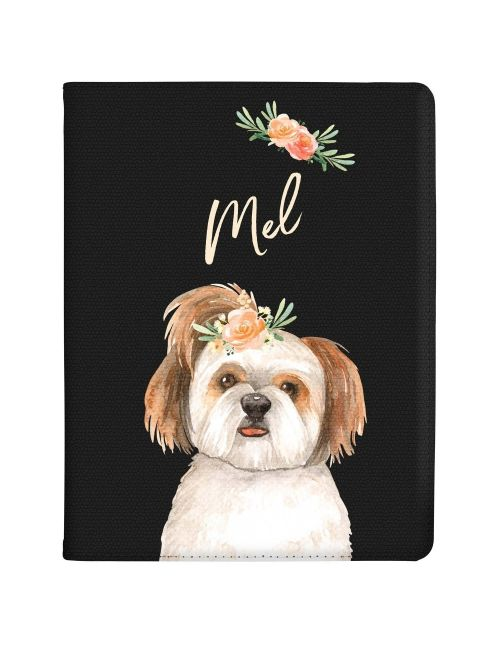Terrier with Flowers tablet case available for all major manufacturers including Apple, Samsung & Sony