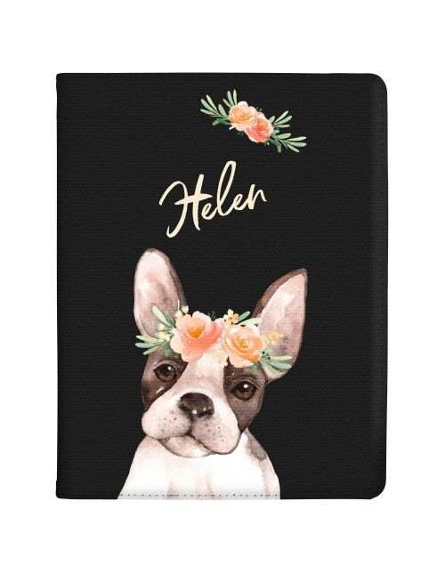 French Bulldog with Flowers tablet case available for all major manufacturers including Apple, Samsung & Sony