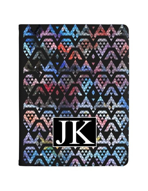 Multi-Coloured Triangles within Shapes tablet case available for all major manufacturers including Apple, Samsung & Sony