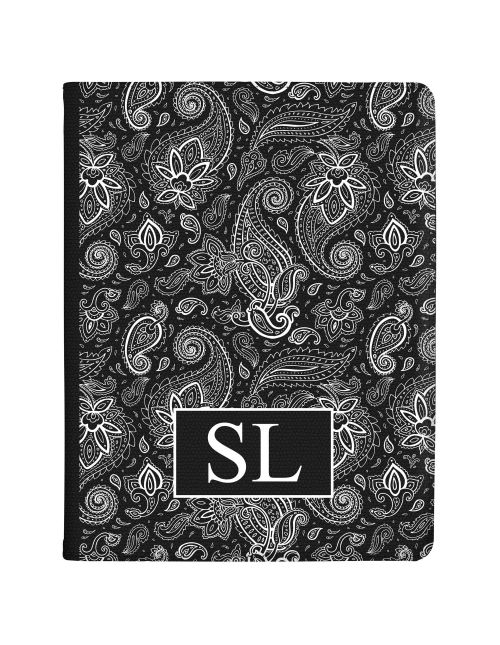 White and Black Floral Pattern tablet case available for all major manufacturers including Apple, Samsung & Sony