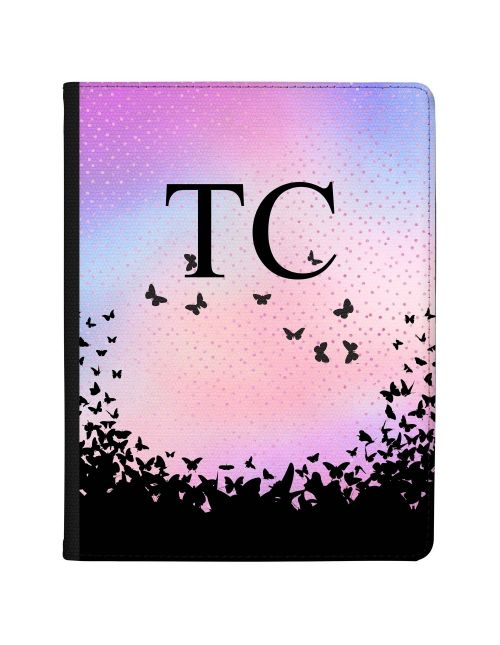 Pink and Blue Sky with Butterflies tablet case available for all major manufacturers including Apple, Samsung & Sony