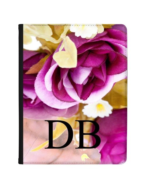 Purple Flowers with Golden Leaves tablet case available for all major manufacturers including Apple, Samsung & Sony