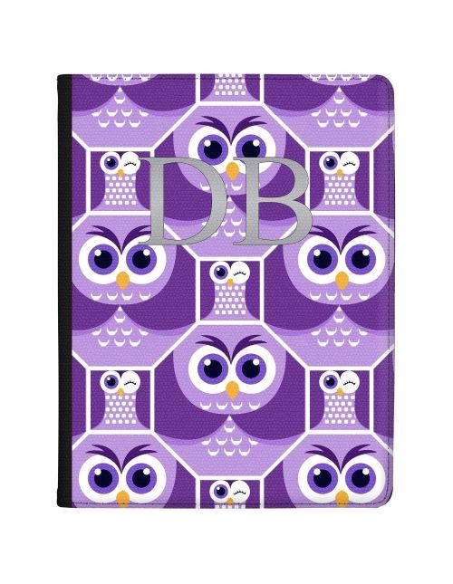 Purple Owls in Octagons tablet case available for all major manufacturers including Apple, Samsung & Sony