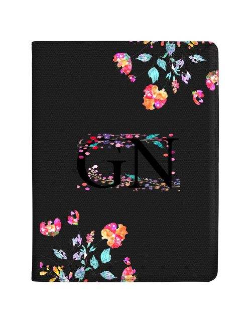 Transparent with Multi-coloured Flowers tablet case available for all major manufacturers including Apple, Samsung & Sony